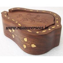 Wooden Carved Brass inlay Coaster set