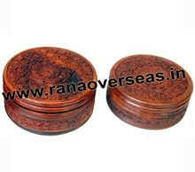 Wooden Carving Round Choclate Boxes