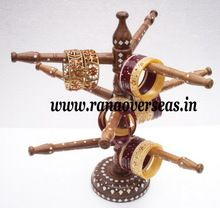 Wooden Inlay Designs Bangle Stand