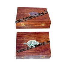 Wooden Plain Book Keep Safe Boxes Set