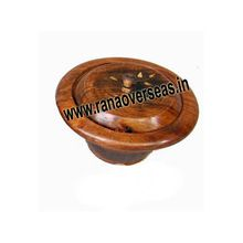 Wooden Plain Round Cookie Box