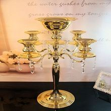 Candelabra with Crystal Hanging