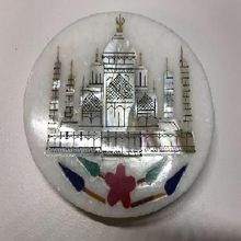 Marble Coasters With Tajmahal Printing