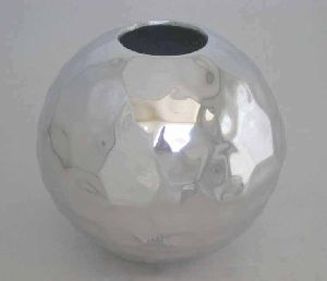 mirror finish decorative metal vase