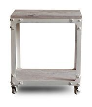 industrial look iron side table