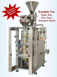 Automatic Form Fill & Seal Machine Belt Drive With Rotary Cup Filler