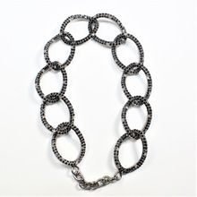 BLACK SPINAL DIAMOND SILVER BRACELET