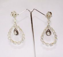 Silver Diamond Polki Earring