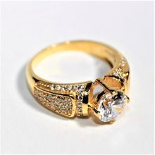 SILVER GOLD PLATED AD RING