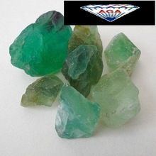 Green fluorite rough Stone