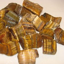 natural rough gemstone tiger eye rough