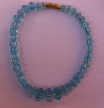Pumpkin Shaped Blue Topaz Beads