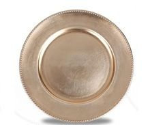 Bridal Metal Round Charger Plate