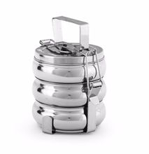Stainless steel Belly Tiffin Box Lunch Box 3 Tier