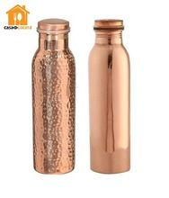 Stainless steel vacuum insulated water bottle with copper coating