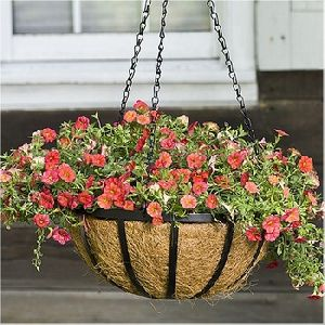 HIGH QUALITY HANGING BASKET WITH COCO LINER