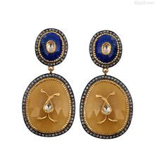 Lapis and Yellow Sapphire Earrings
