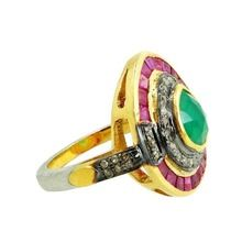 Ruby and Emerald Vintage Ring