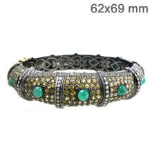 Sapphire and Emerald Bangle