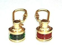 Nautical color Lamp key chain