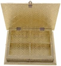 Golden Color Rectangle Shape Gift Box