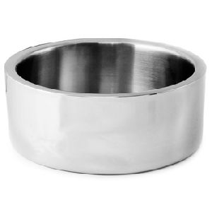 Double Wall Stainless Steel Straight Salad Bowl