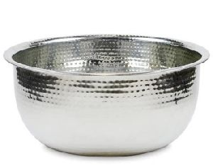 Stainless Steel Pedicure Bowl Hand Hammered