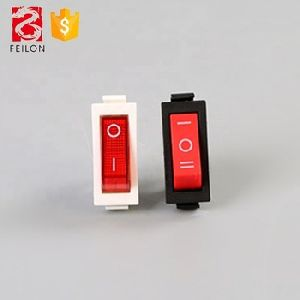 ON-OFF red led rocker switch