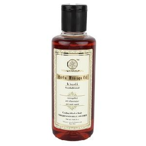 SANDALWOOD MASSAGE OIL PARABEN MINERAL OIL FREE