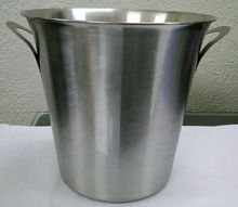 Silver Stainless steel wine bucket