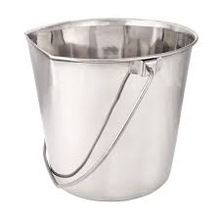 SS Flat Sided Pet Pail Bucket