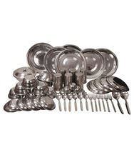 Stainless Steel heavy weight dinner set