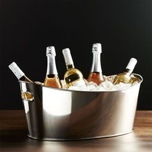 Stainless Steel Oval shape Beverages Tub