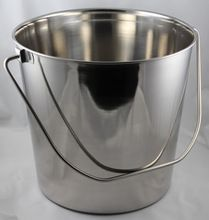 Stainless steel Pail Bucket with Round handle