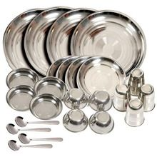 Traditional look Stainless Steel Dinner set