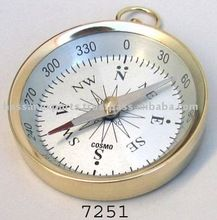 Brass Nautical Pocket Compass