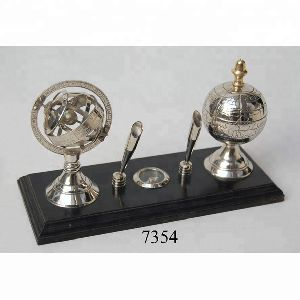 Decoration Globe And Armillary Pan Holder