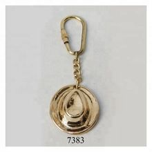 Nautical Brass Hat Keychain