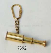 Nautical Brass Telescope Keychain