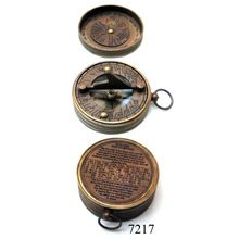 Nautical Pocket Sundial Compass