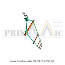 Wooden Rungs Rope Ladder