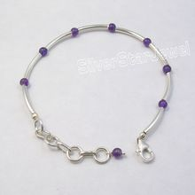 Pipes Natural AMETHYST BEADS NICE Bracelet