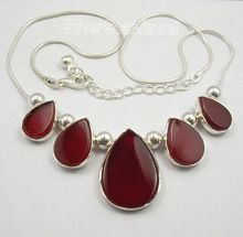 RED FIRE CARNELIAN ART Necklaces