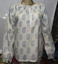 Hand block printed Indian cotton Tunic