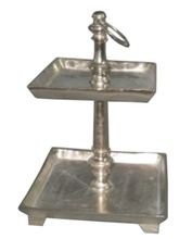 2 Tier Metal Cake Stand