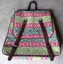 Cotton fabric unisex backpack