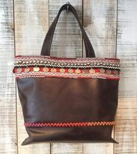HANDMADE LEATHER EMBROIDERY BAG