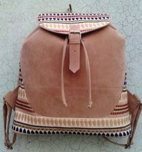 Jacquard Fabric Backpack With Urgestable Handle