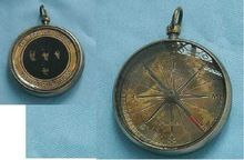 Antique Brass Pocket Compass,
