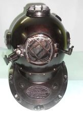 Black Antique Finish Steel Metal Mark V Marine 18 inch Decorative Diving Helmet